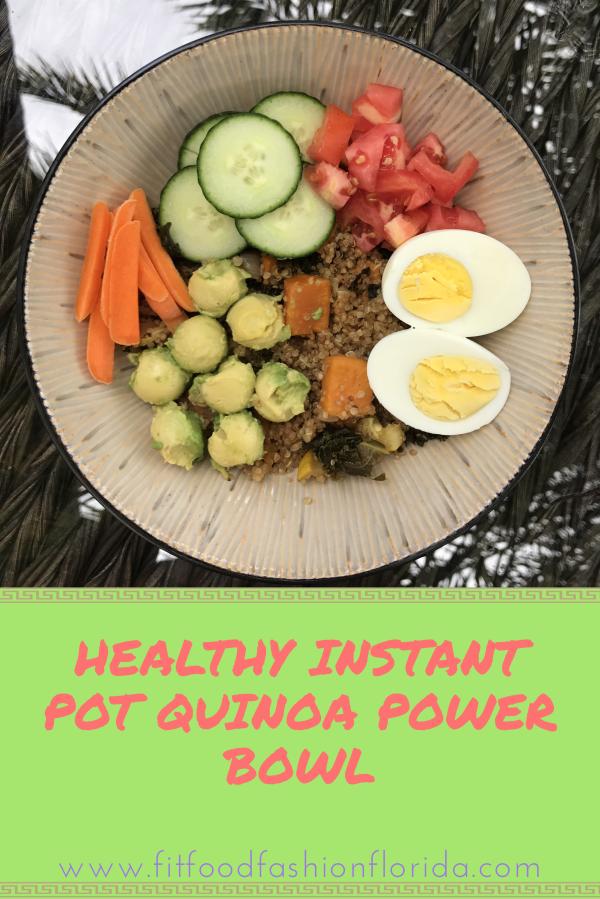Healthy Instant Pot Quinoa PowerBowl